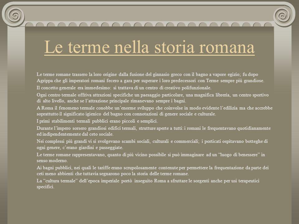 Le terme nella storia romana