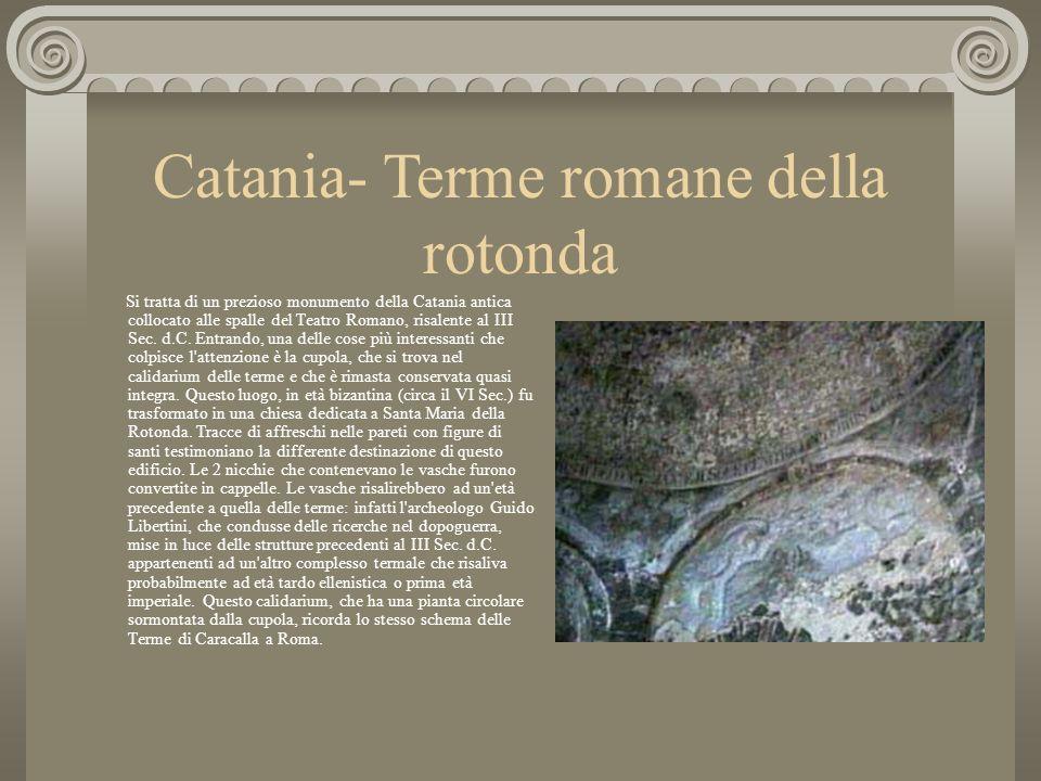 Catania- Terme romane della rotonda
