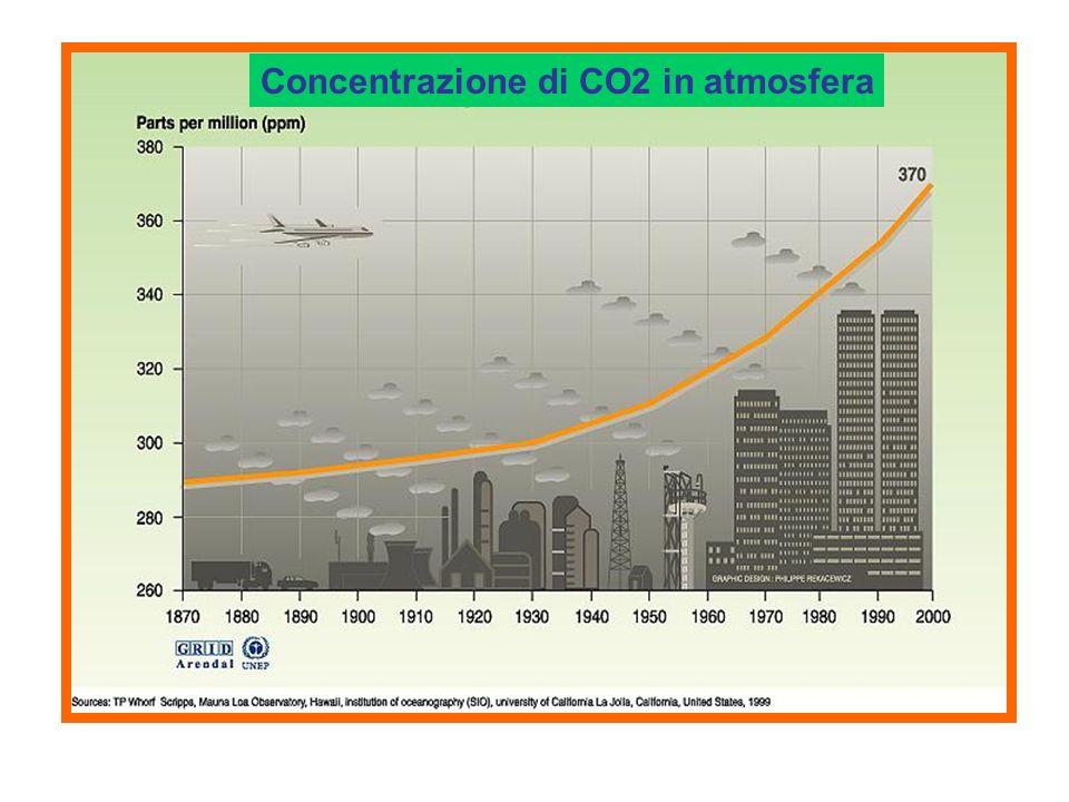 Concentrazione di CO2 in atmosfera