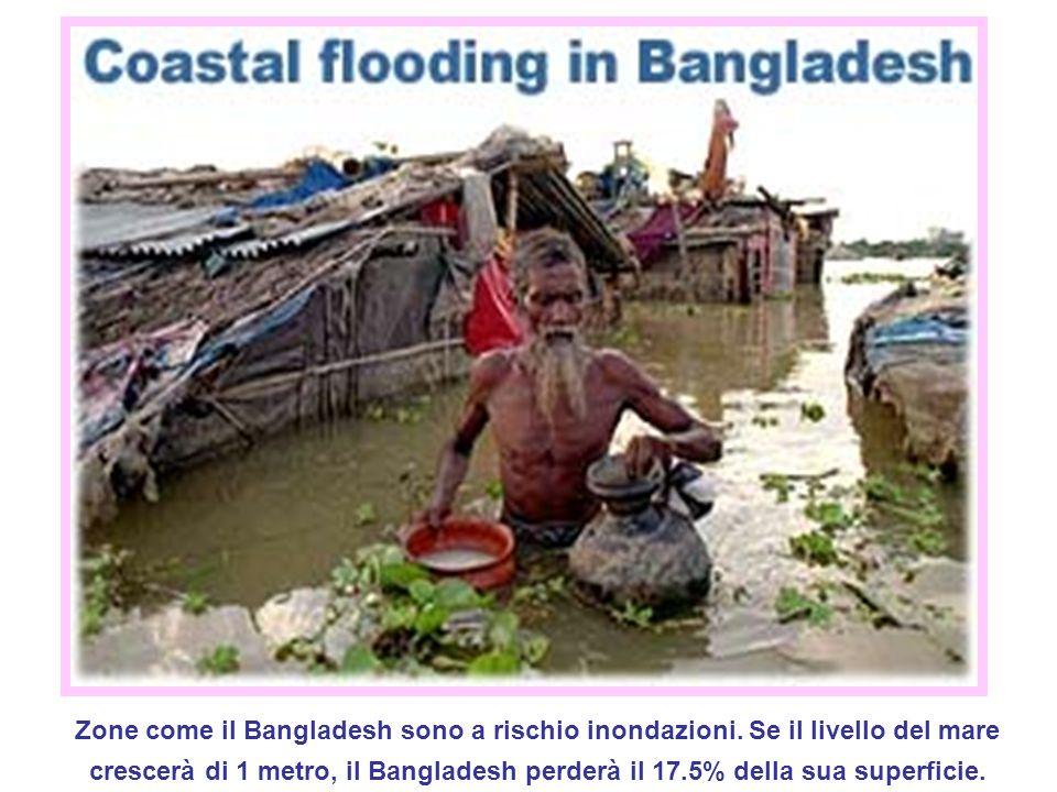 Zone come il Bangladesh sono a rischio inondazioni