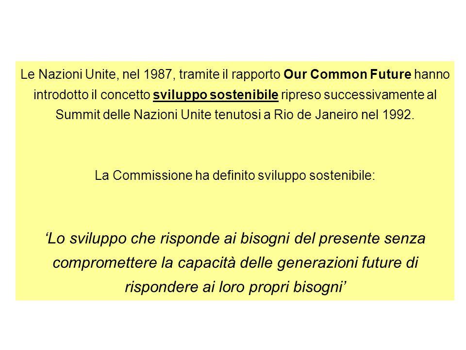 La Commissione ha definito sviluppo sostenibile:
