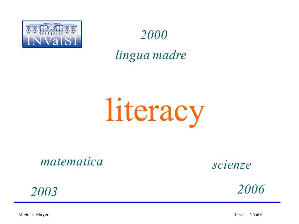 2000 lingua madre literacy matematica scienze 2006 2003