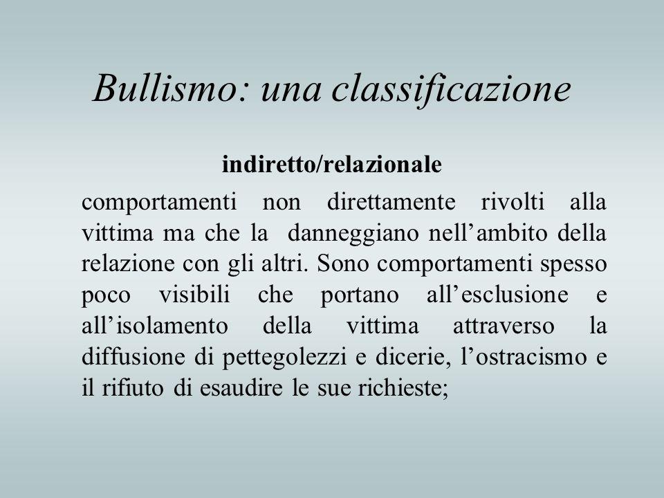 Bullismo: una classificazione
