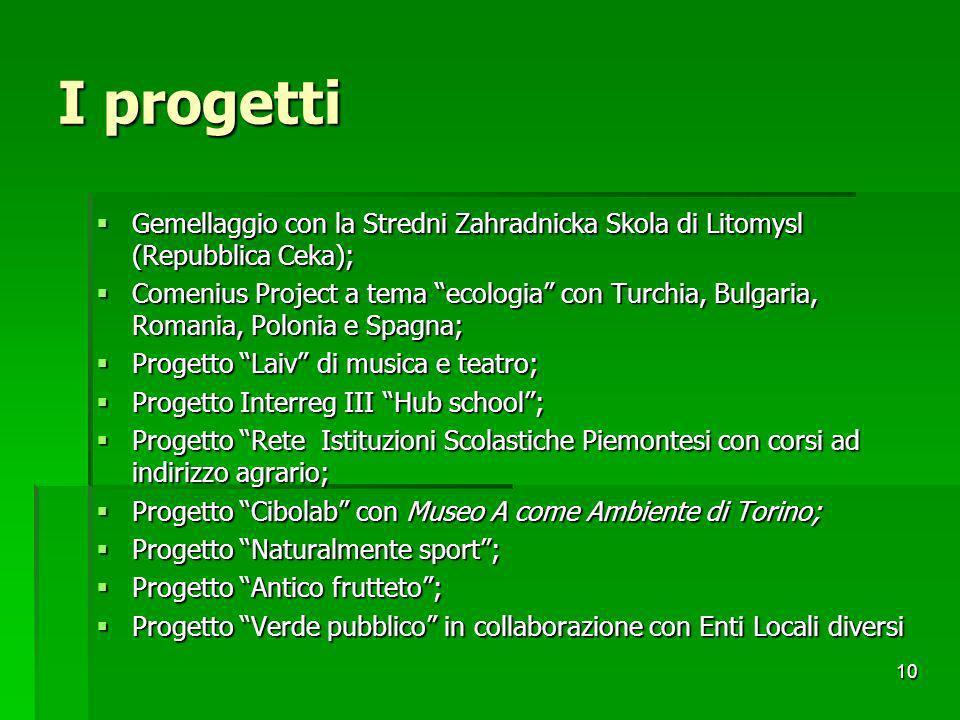 I progetti Gemellaggio con la Stredni Zahradnicka Skola di Litomysl (Repubblica Ceka);