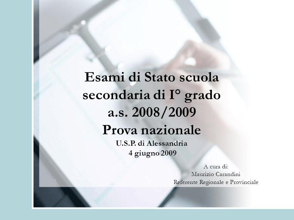 Esami di Stato scuola secondaria di I° grado a.s. 2008/2009