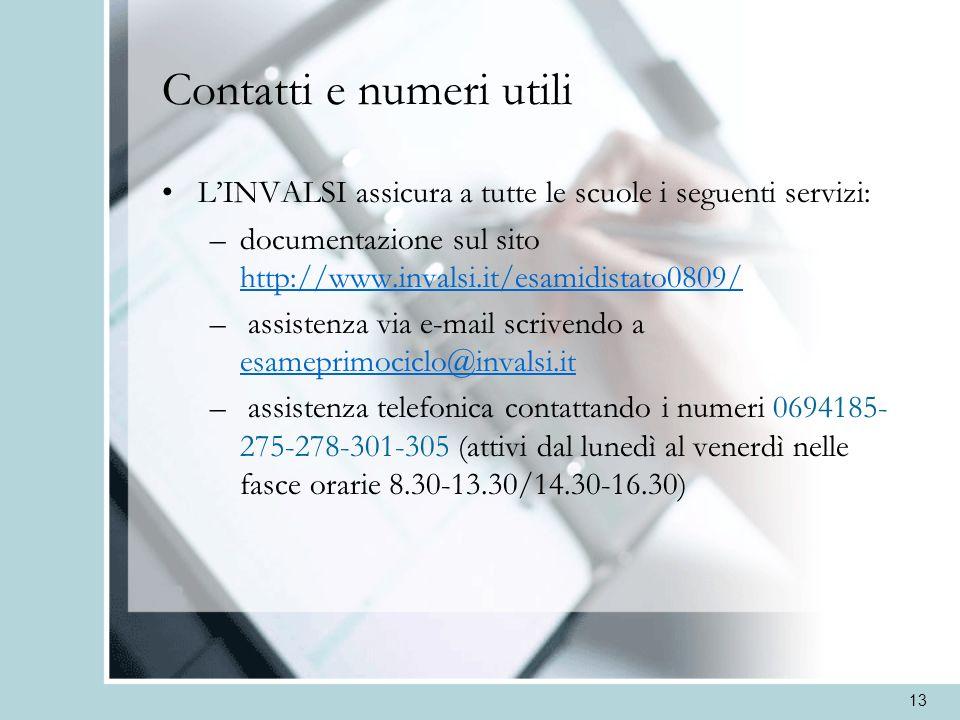 Contatti e numeri utili