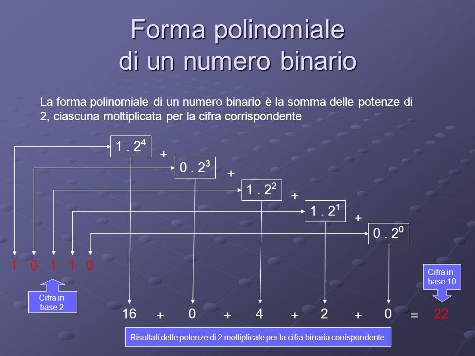 Forma polinomiale di un numero binario
