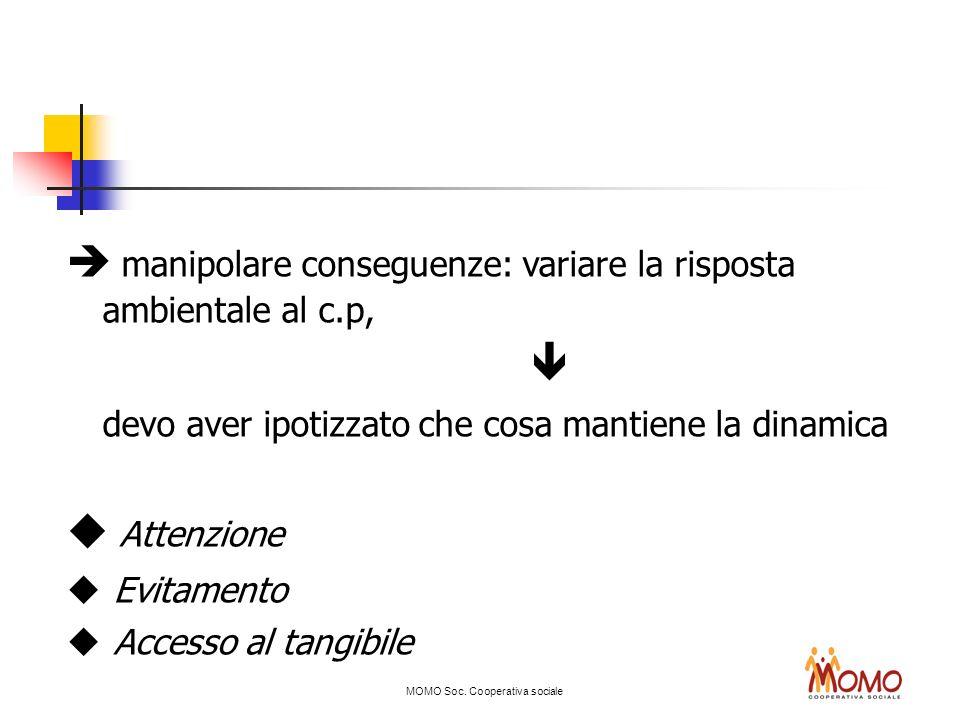  manipolare conseguenze: variare la risposta ambientale al c.p, 