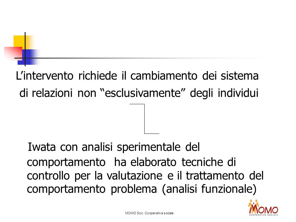 02/03/11 L'intervento richiede il cambiamento dei sistema. di relazioni non esclusivamente degli individui.