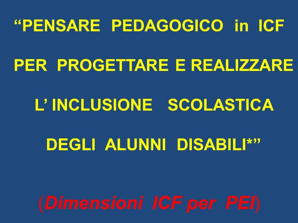 (Dimensioni ICF per PEI)