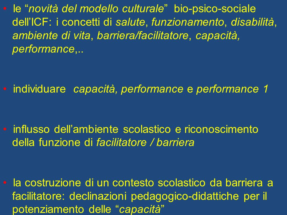 le novità del modello culturale bio-psico-sociale