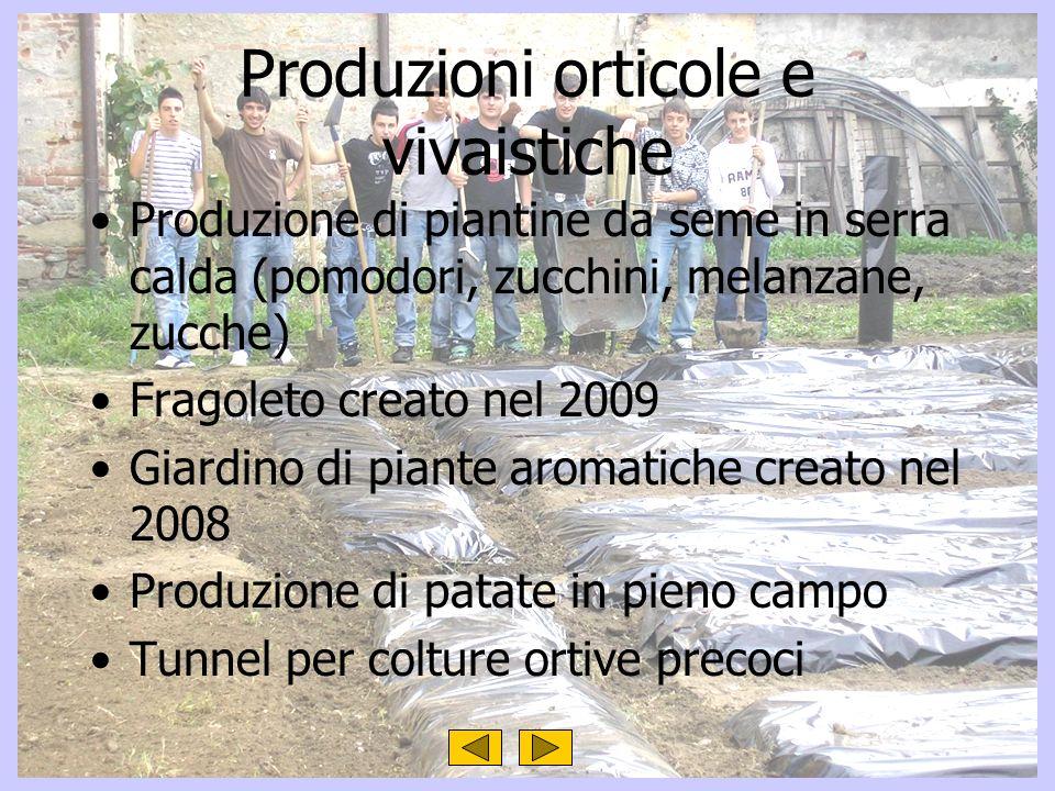 Produzioni orticole e vivaistiche