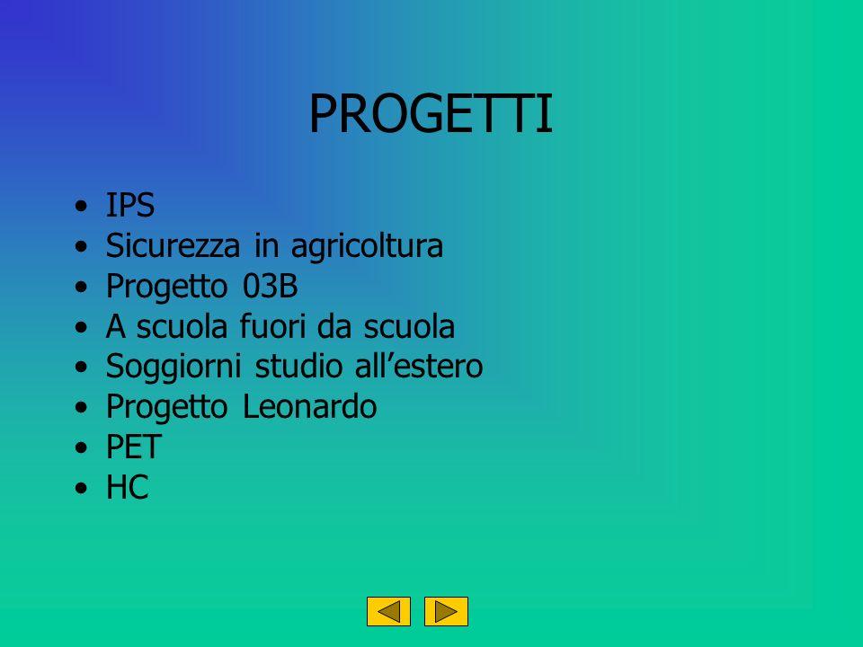 PROGETTI IPS Sicurezza in agricoltura Progetto 03B