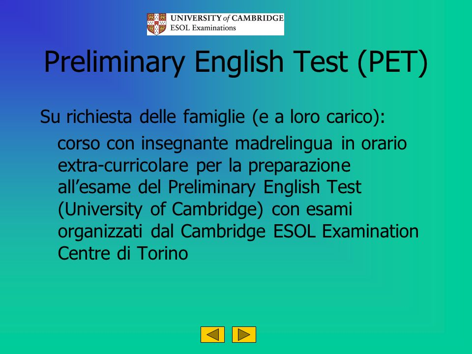 Preliminary English Test (PET)