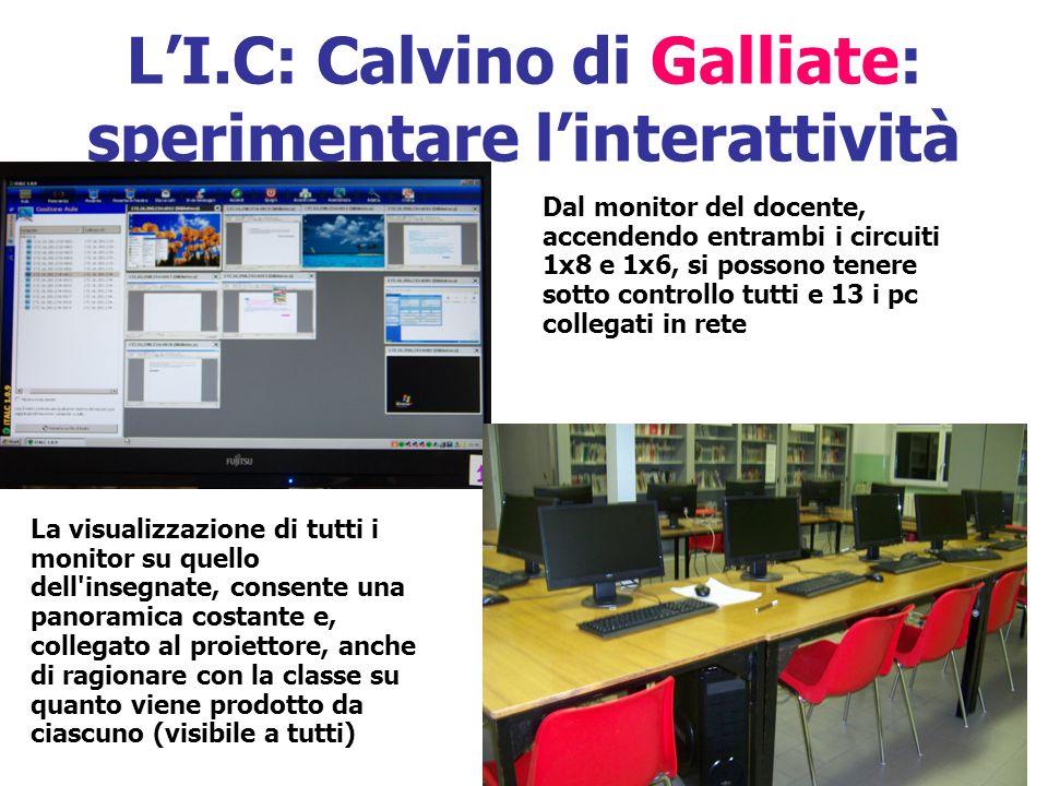 L'I.C: Calvino di Galliate: sperimentare l'interattività
