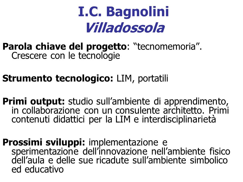 I.C. Bagnolini Villadossola