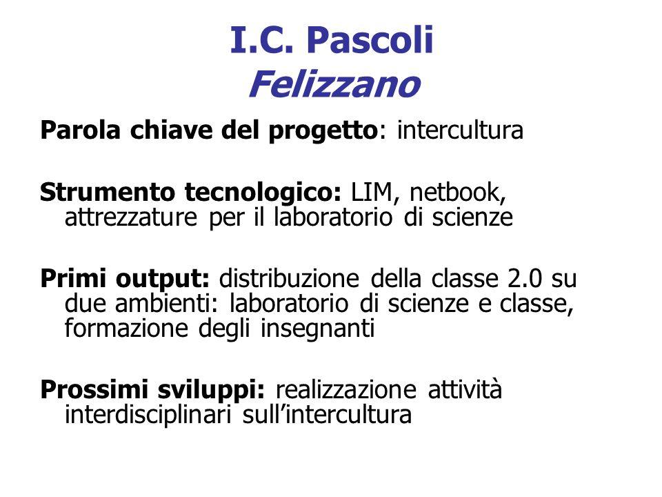 I.C. Pascoli Felizzano Parola chiave del progetto: intercultura