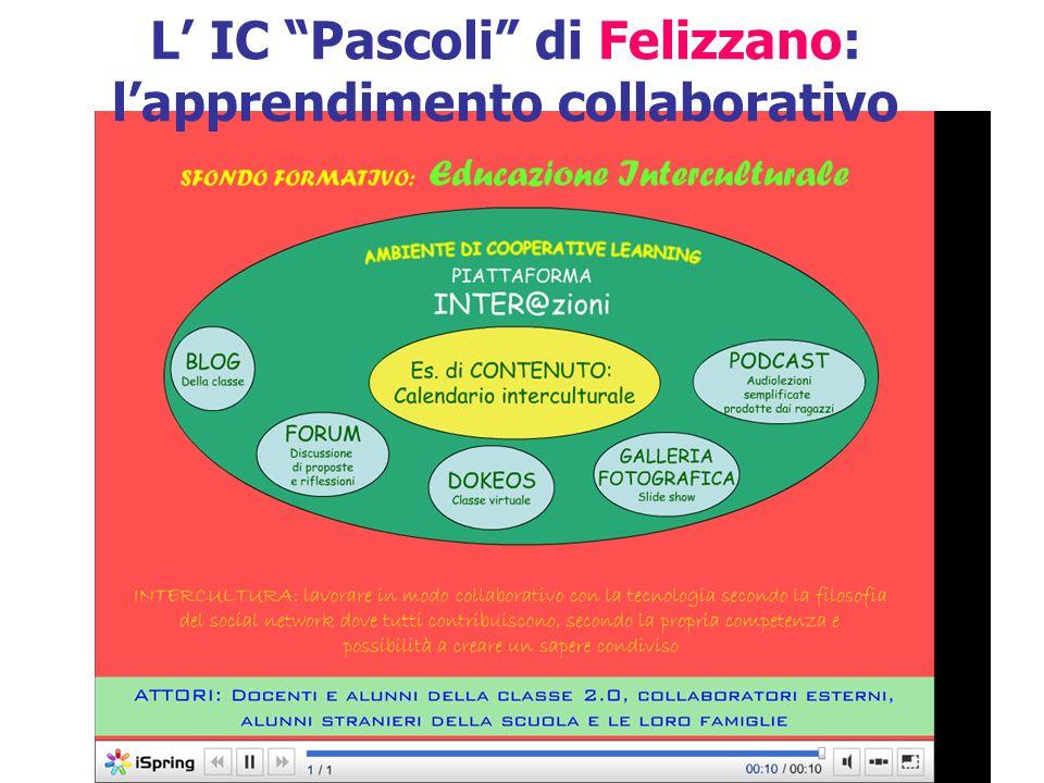 L' IC Pascoli di Felizzano: l'apprendimento collaborativo