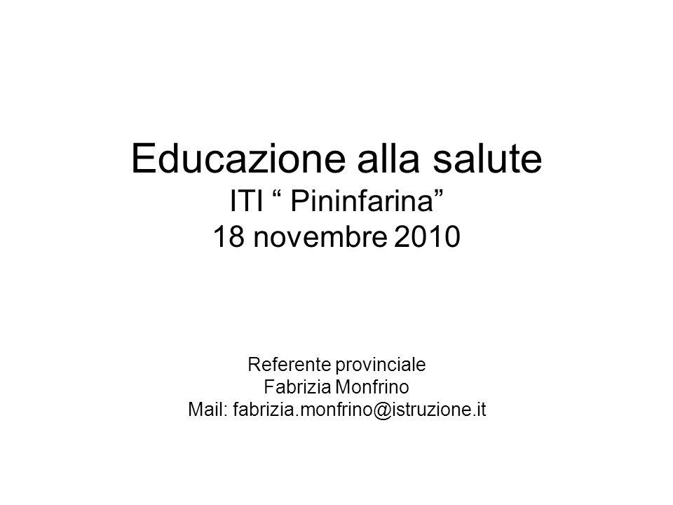 Educazione alla salute ITI Pininfarina 18 novembre 2010