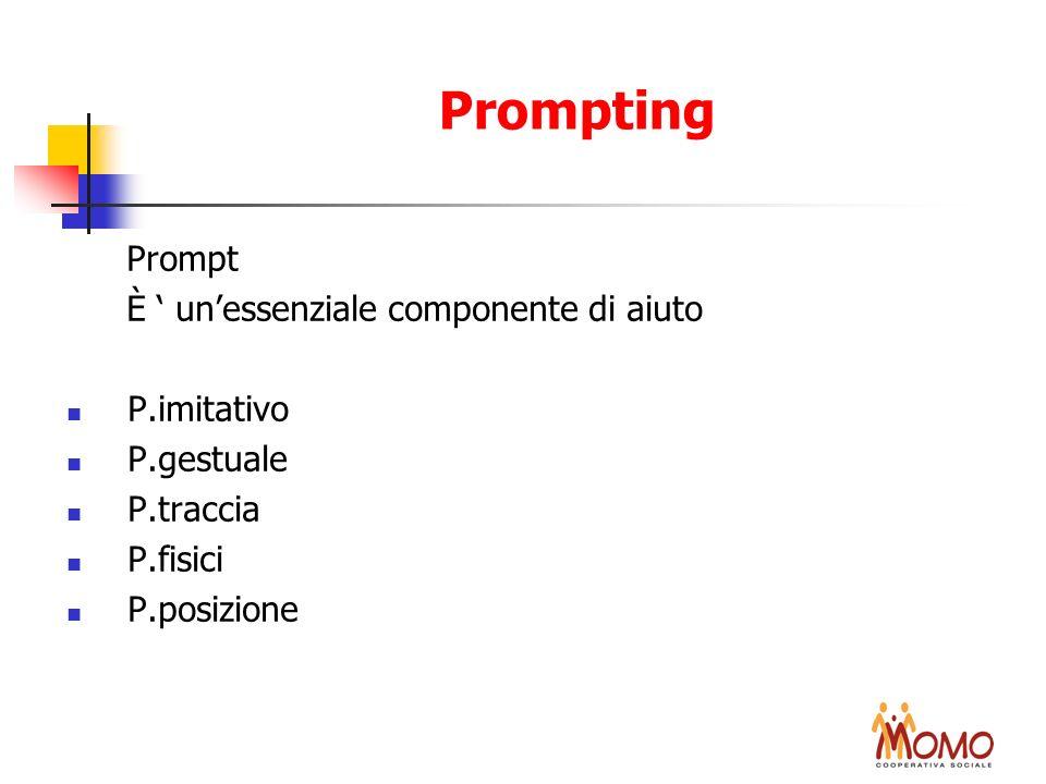 Prompting Prompt È ' un'essenziale componente di aiuto P.imitativo