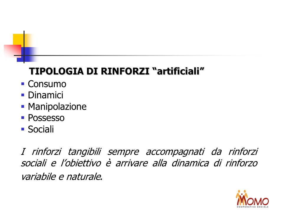 TIPOLOGIA DI RINFORZI artificiali