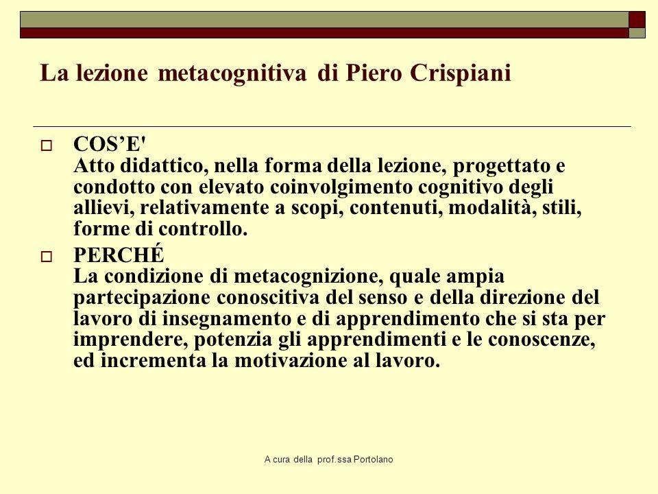 La lezione metacognitiva di Piero Crispiani