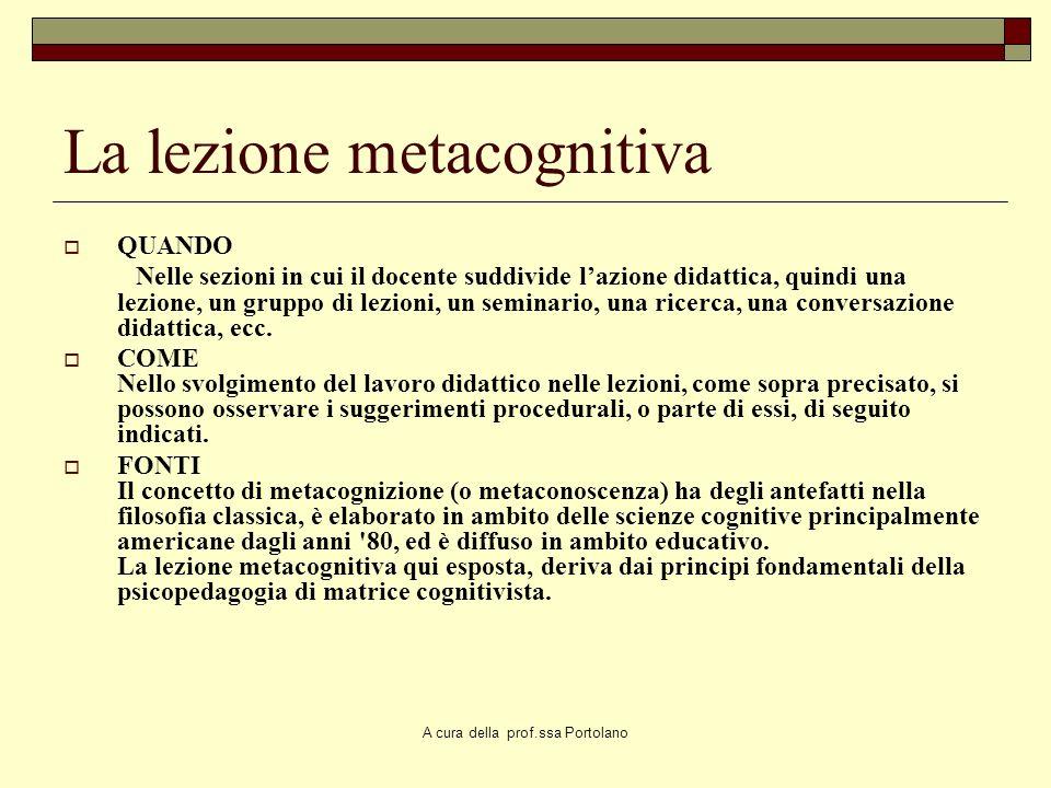 La lezione metacognitiva