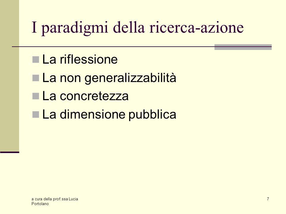 I paradigmi della ricerca-azione