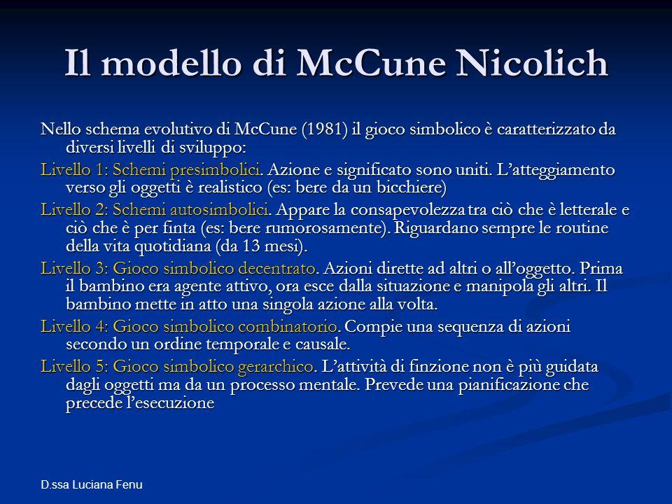 Il modello di McCune Nicolich