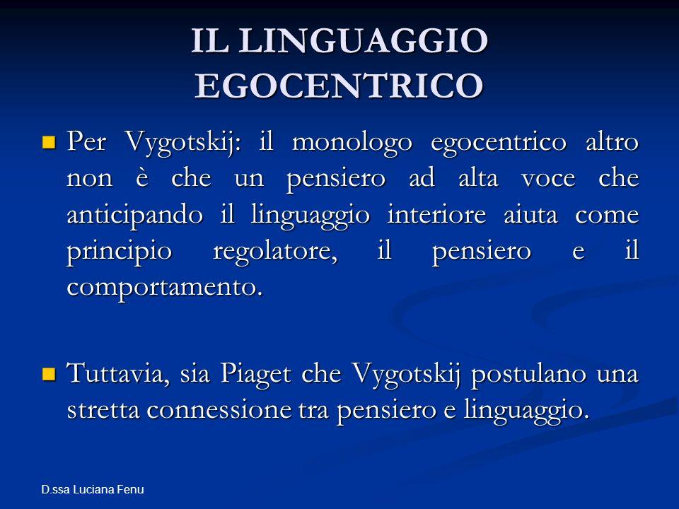 IL LINGUAGGIO EGOCENTRICO