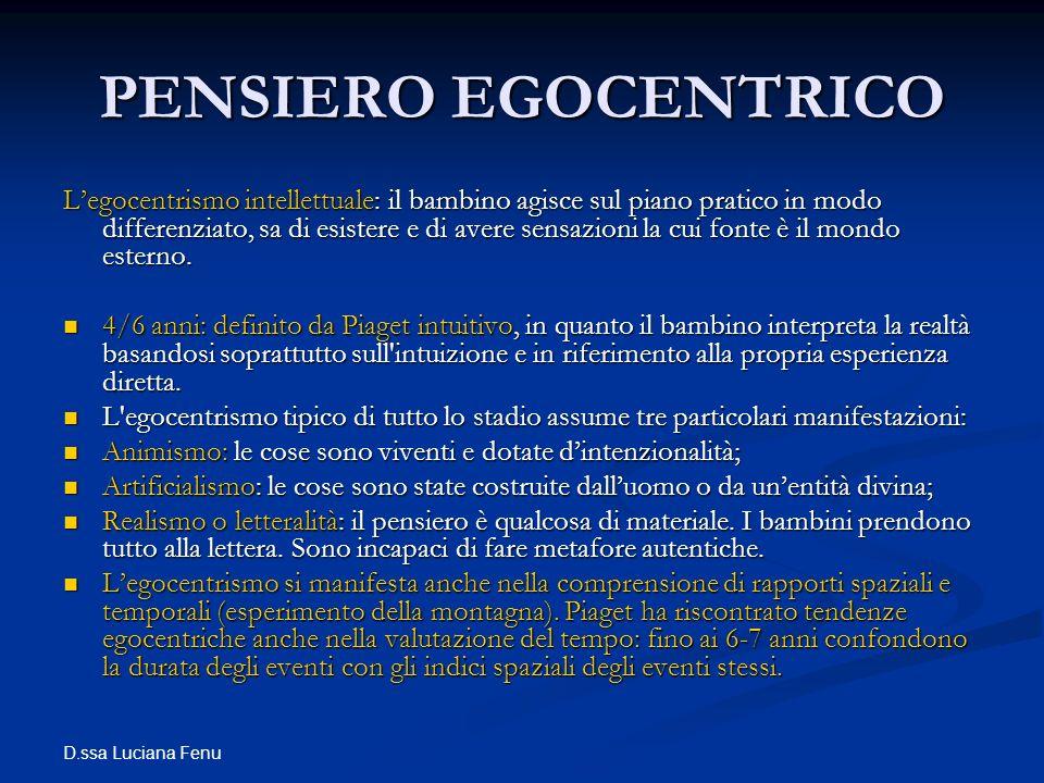 PENSIERO EGOCENTRICO