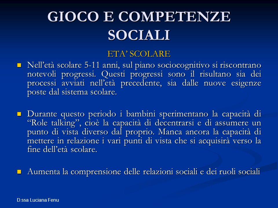 GIOCO E COMPETENZE SOCIALI