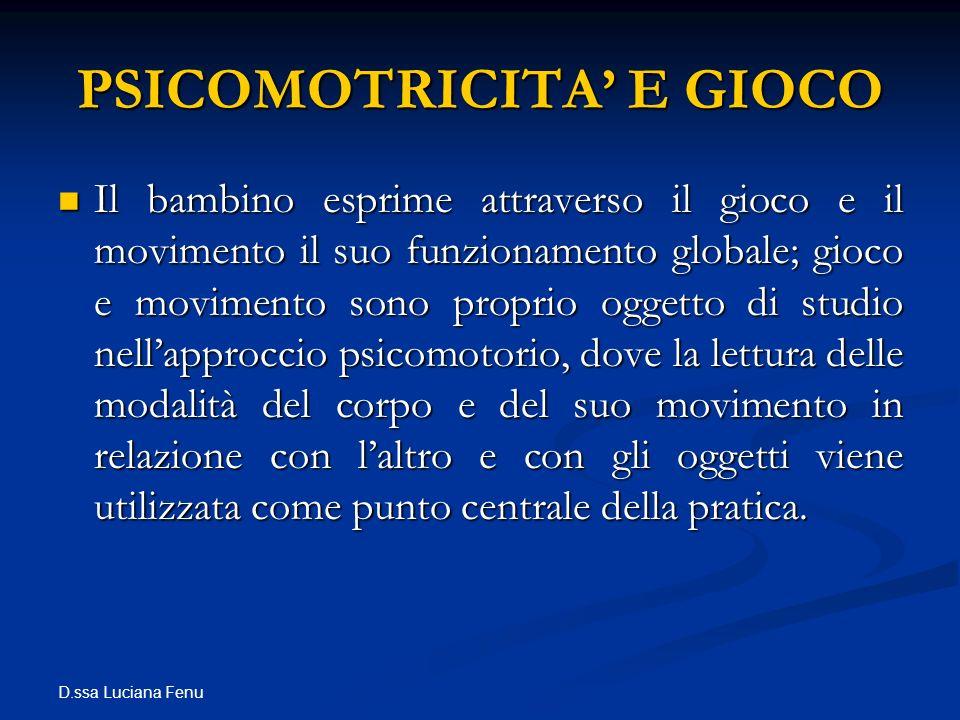 PSICOMOTRICITA' E GIOCO