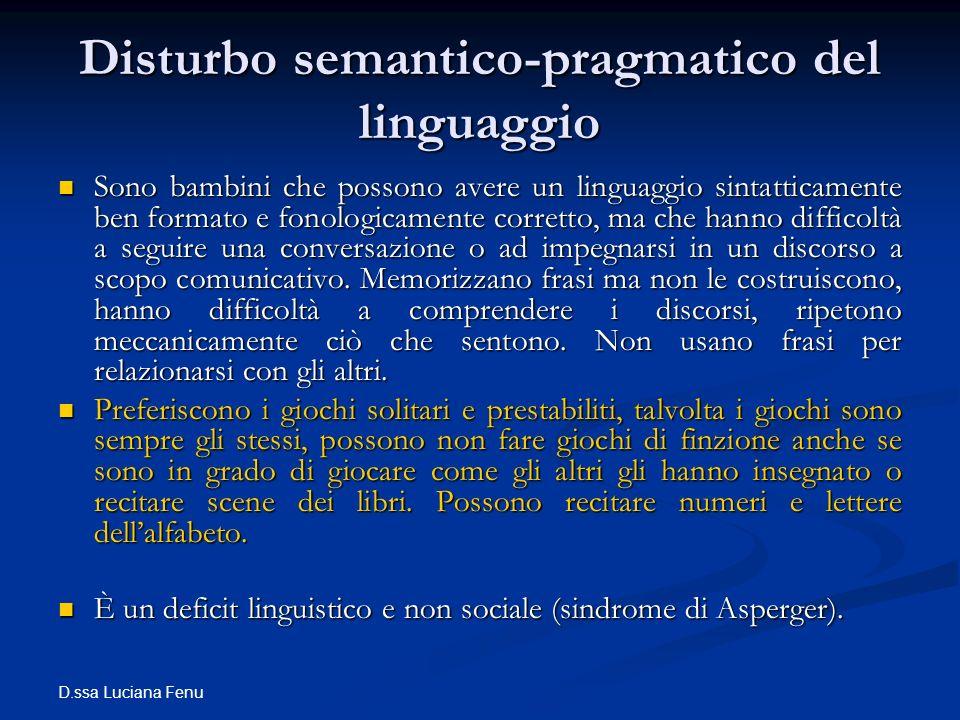 Disturbo semantico-pragmatico del linguaggio