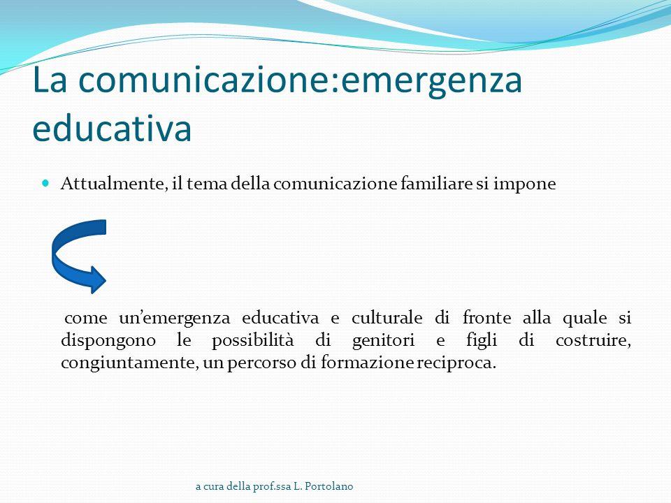 La comunicazione:emergenza educativa