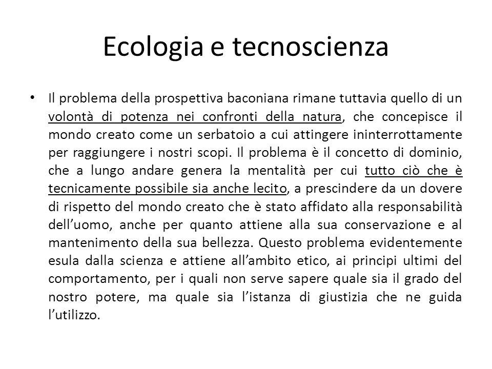 Ecologia e tecnoscienza