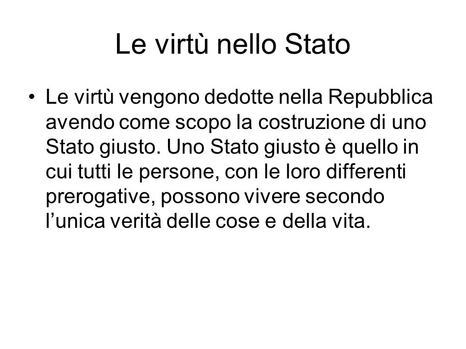 Le virtù nello Stato