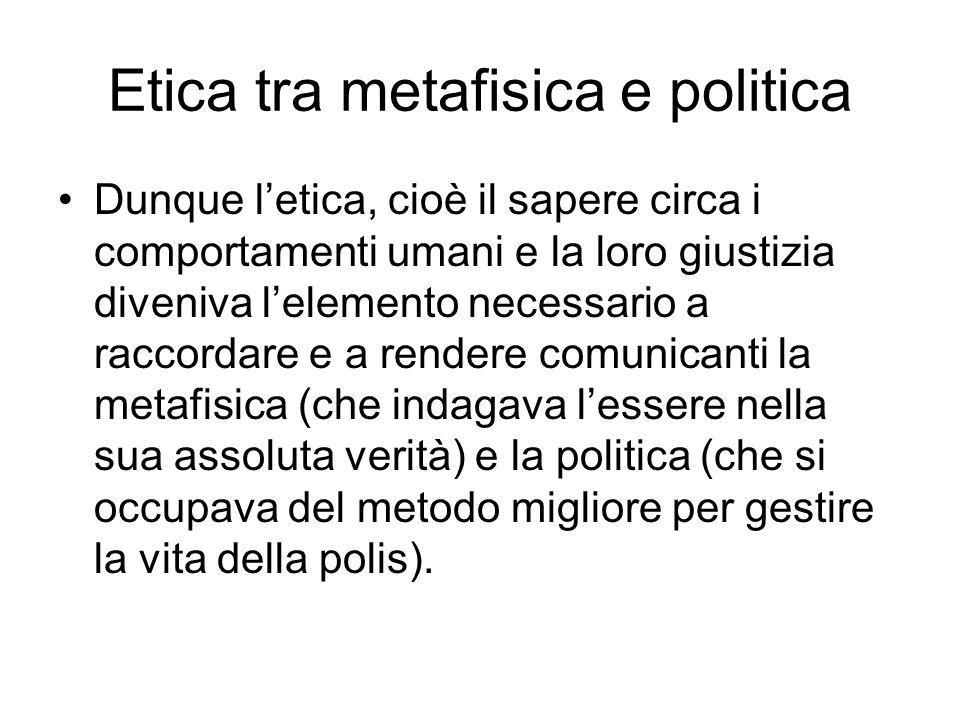 Etica tra metafisica e politica