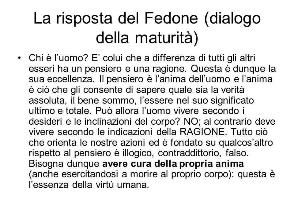 La risposta del Fedone (dialogo della maturità)