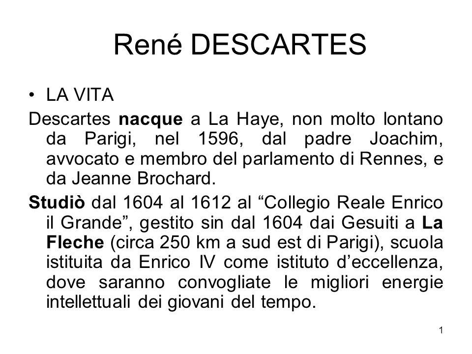 René DESCARTES LA VITA.