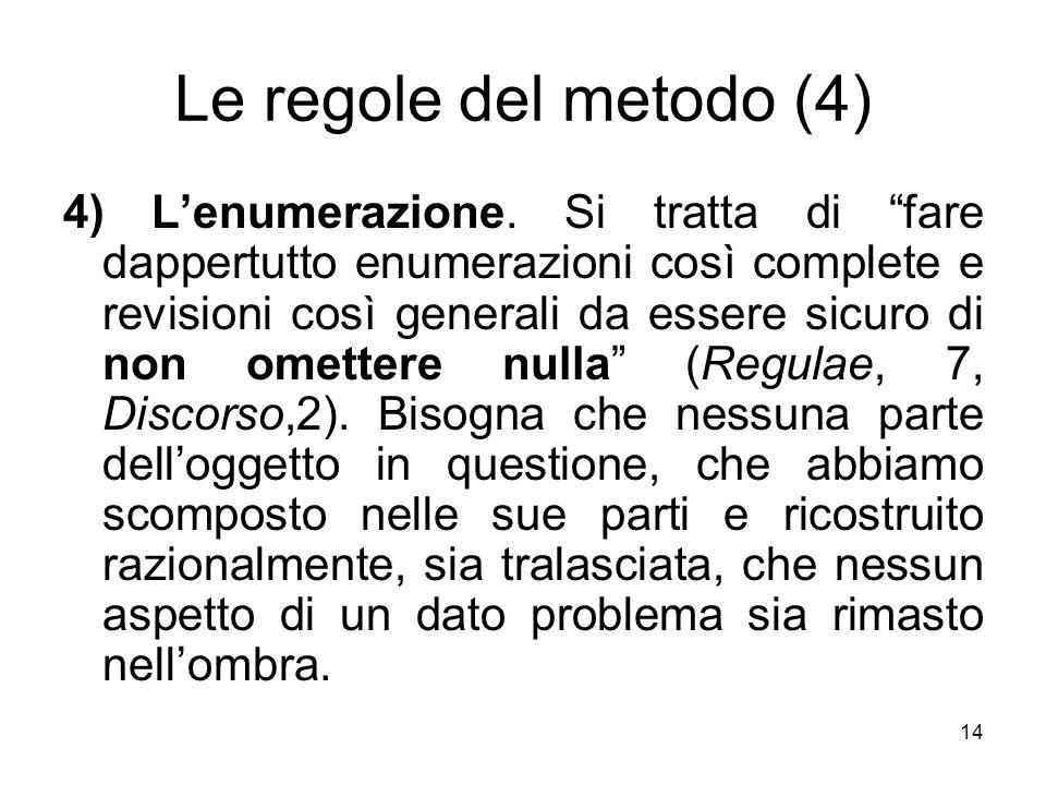 Le regole del metodo (4)