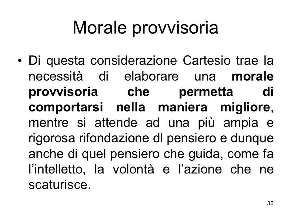 Morale provvisoria