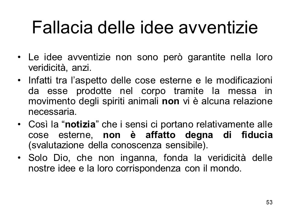 Fallacia delle idee avventizie