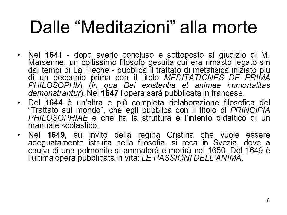 Dalle Meditazioni alla morte