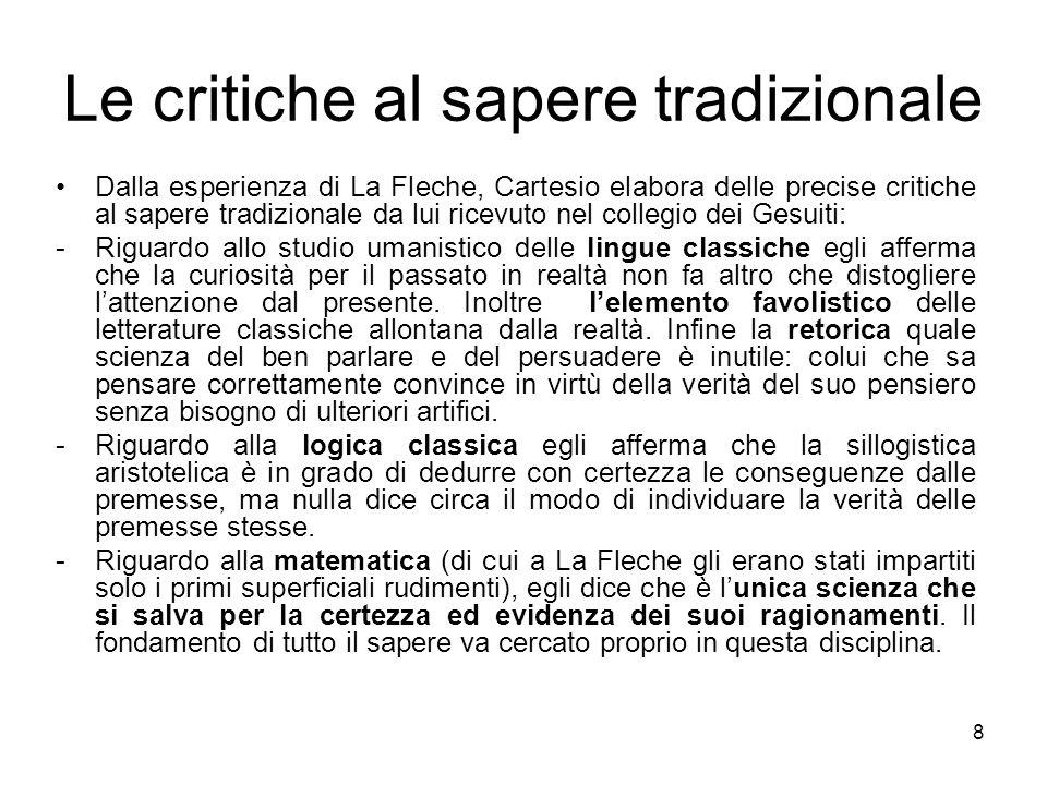 Le critiche al sapere tradizionale