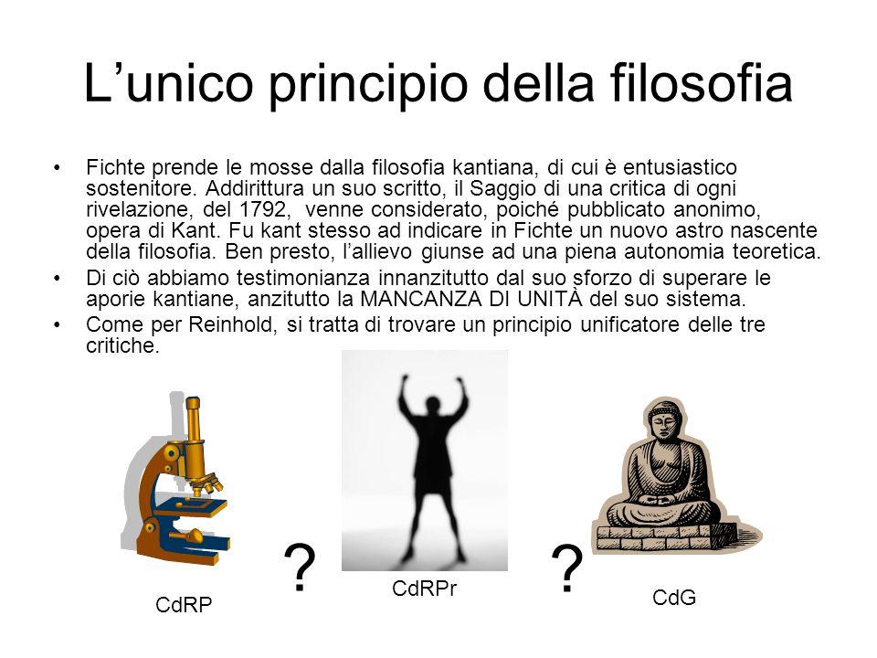 L'unico principio della filosofia