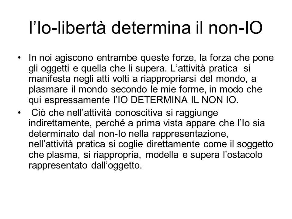 l'Io-libertà determina il non-IO