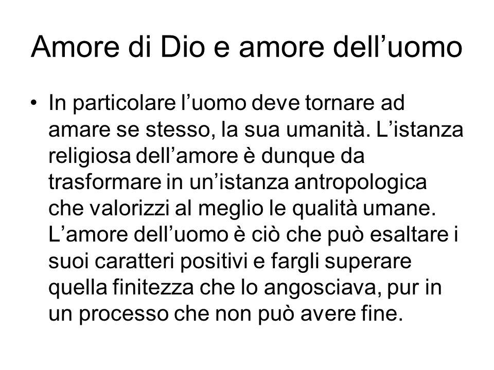 Amore di Dio e amore dell'uomo