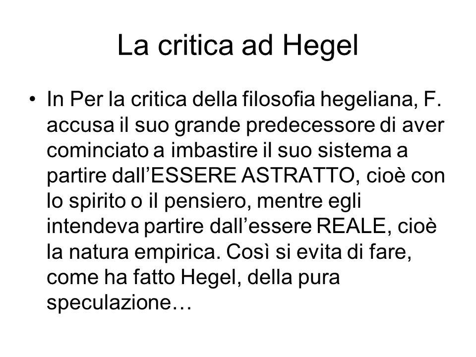 La critica ad Hegel
