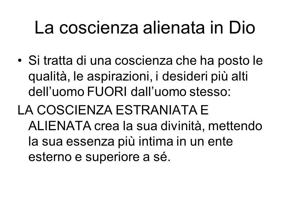 La coscienza alienata in Dio